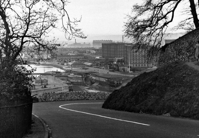 Cumberland Basin from Rownham Hill 1950s - Bristol Archives