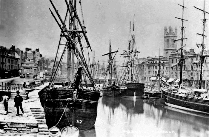 St Augustines Reach c1860 - Bristol Archives